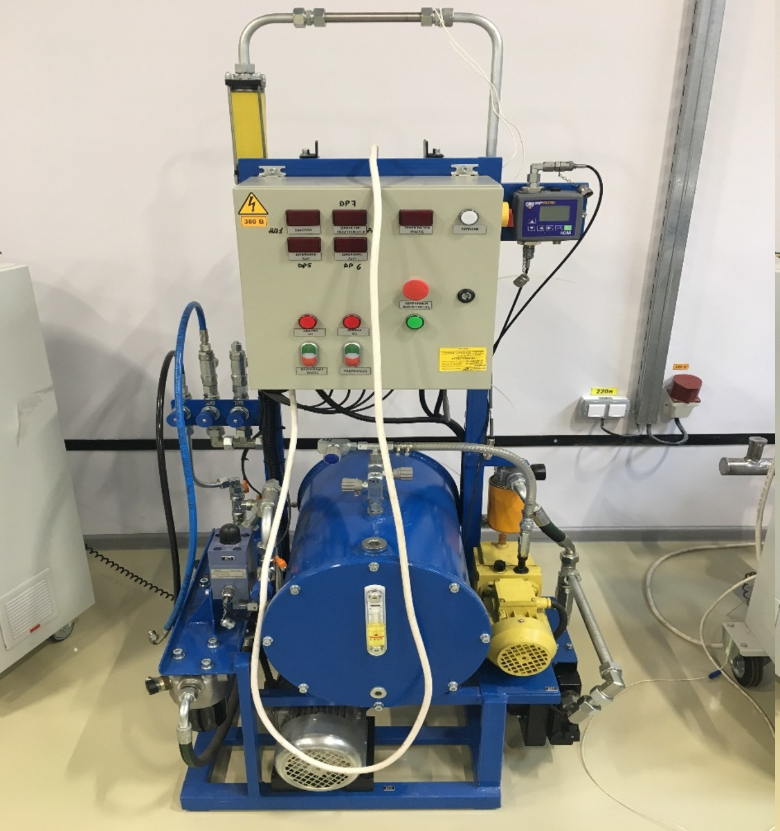 Test-bench for vacuum filling of special products